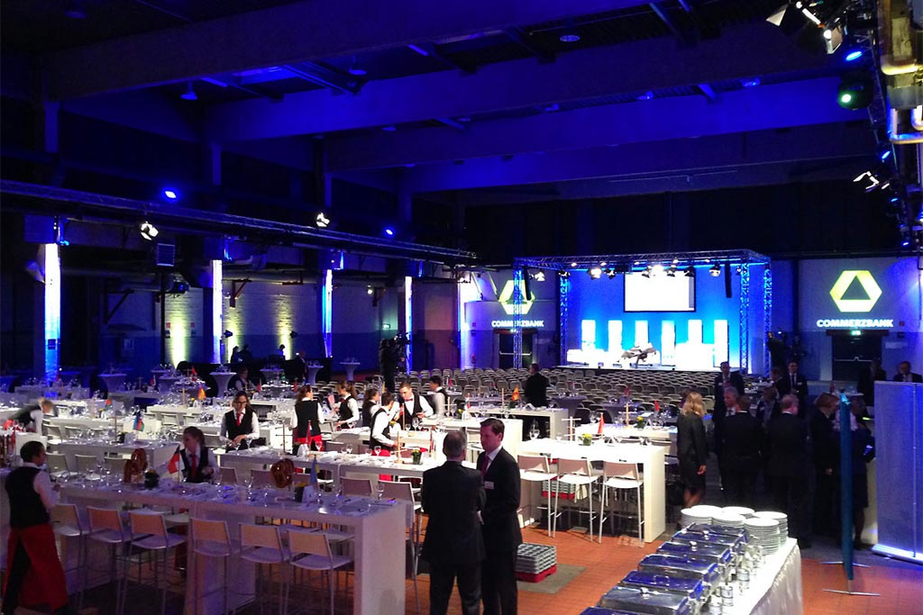 Eventlocation Energieleitzentrale Galadinner Gala mit Lounge